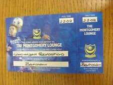 02/02/2002 Ticket: Portsmouth v Barnsley [The Montgomery Lounge] . Thanks for vi