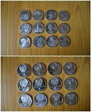 LOTTO 12 MONETE RUSSIA 1 RUBLO ANNI DIVERSI PROOF FONDO SPECCHIO SUBALPINA