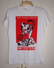 THE SCORPIONS THE FINAL STING LADIES T-SHIRT OFFICIAL TOUR MERCHANDISE NEW RARE