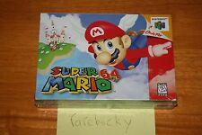 Super Mario 64 (Nintendo 64 N64) NEW SEALED V-SEAM, FIRST PRINT, NO TEARS, RARE!