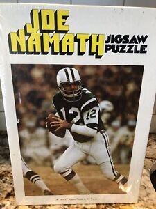 JOE NAMATH NY JETS FOOTBALL JigsawPuzzle From 1971 UNOPENED Rare VINTAGE