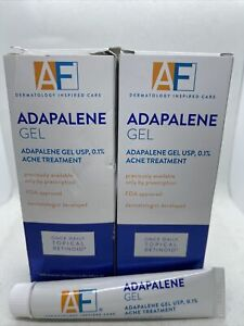 2 Pack AF Adapalene Gel Acne Treatment .5oz Each for Face Skin Topical Retinoid
