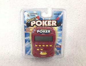 Radica POCKET POKER Draw and Deuces Electronic Handheld Game 1997 Sealed