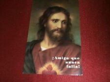 Sacred Heart of Jesus Sagrado Corazon El amigo que nunca falla Prayer Card