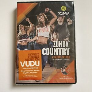 Zumba Country Country Music Favorites Calorie Inferno Exercise DVD. New Sealed