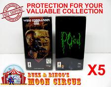5x PANASONIC 3DO CIB CARDBOARD GAME BOX -CLEAR PROTECTIVE BOX PROTECTOR SLEEVE
