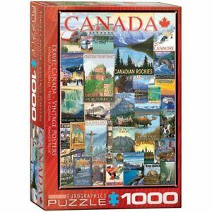 Eurographics 1000 Piece Jigsaw Puzzle - Travel Canada Vintage Ads EG60000778
