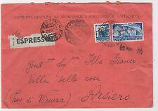 """STORIA POSTALE 1949 TRIESTE """"A"""" L.30+50 SU BUSTA EX TRIESTE 24/8 Z/6583"""