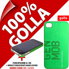 Golla CUSTODIA RIGIDA COVER posteriore Protettivo Verde Opaco per Apple iPhone 4/4s