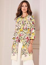 Kaleidoscope Floral Print Jacquard Dress Coat Size 14 Uk BNWT RRP £92.99 Ivory