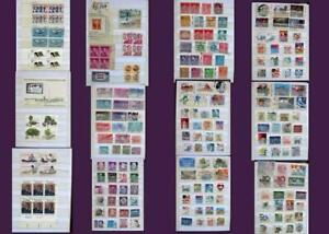 US Stamp Collection Numbered Blocks Blocks And Postage Stamps, Free Shipping