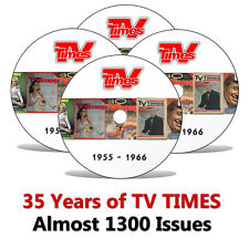 35 Years of TV TIMES Magazine 1955-1990 - Ultimate DVD almost 1300 Issues !!