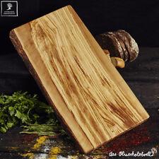 Bandeja la tabla de Cortar Borde Natural Madera olivo Edición Especial 40x30x2,5
