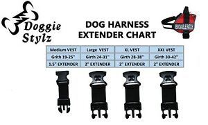 Dog Harness Girth Strap Extender. Adds a 5 inch Extension to Your Dogs Vest USA