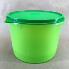 Tupperware Round Storage Container 8 Cup Green #264 #227 New