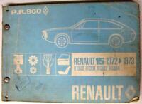 RENAULT 15 Car Spare Parts List 1973 #P.R. 960 (2) R1300 R1301 R1302 R1304
