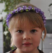Kinder Haarreif mit Röschen Mädchen Haarreifen Rose Kommunion Blumenkinder Rosen