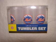 MLB NY New York Mets 19oz Acrylic Tumblers 3 Piece Set NEW