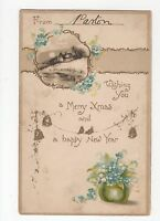 Merry Christmas & a Happy New Year Greetings Postcard, A362