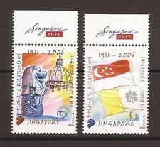 Singapore 2006 Emissione Congiunta con Vaticano con appendice Singapore Post **