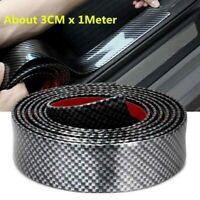 Auto Fibra Carbonio Gomma Edge Protezione Striscia Porta Protezione Parti 3CMx1M