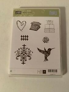 """New Stampin Up """"Best of Shelli"""" Rubber Mount Stamp Set #133488"""