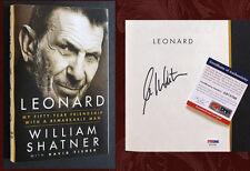 WILLIAM SHATNER SIGNED w/ PSA/DNA - LEONARD (Nimoy, Spock, Kirk, Star Trek)