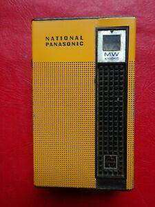NATIONAL PANASONIC BUTTERSCOTCH TRANSISTOR RADIO-MODEL R-1021--FREE POSTAGE
