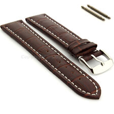 Two-piece Men's Genuine Leather Watch Strap Band Croco RM SS. Buckle Spring Bars