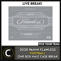 2020 PANINI FLAWLESS FOOTBALL 1 BOX *(HALF CASE) BREAK #F699 - PICK YOUR TEAM