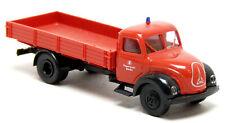 Brekina - Magirus S3500 Mercur LKW Pritsche Feuerwehr Berlin rot Modell 1:87 H0