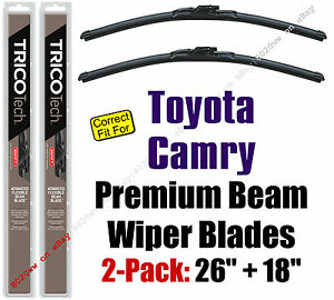 Wiper Blades 2-Pack Premium Beam Wipers - fit 2012-2017 Toyota Camry - 19260/180