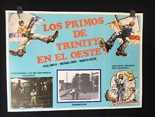 """TERENCE HILL BUD SPENCER 1980s Vintage Authentic MEXICAN MOVIE POSTER~ 22""""x16"""""""