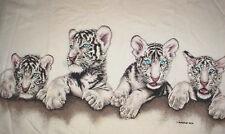 HABITAT WHITE TIGER BABY BLUE EYES T SHIRT~L