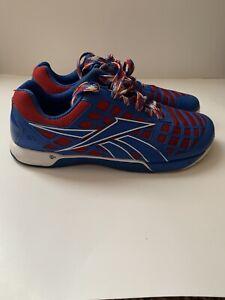 Reebok Crossfit Nano 3.0 Duracage CF74 Sneaker Shoes Mens Size 10 Red White Blue