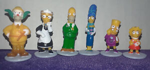 Complete Set Six Simpsons Clue Replacement Tokens 2002 Edition