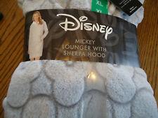 Disney New Women's Mickey Lounger With Sherpa Hood Size XL Kangaroo Pockets