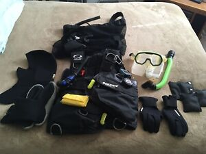 oceanic probe bioflex Size L.With Mask,snorkel, Weights,gloves, Head Gear,shoes.