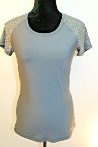 Under Armour Women's Top Workout Active Wear Short Sleeve Spandex Gray size XS