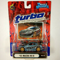 Muscle Machines TURBO & High Performance '03 Mazda RX-8 T04-22 Rare