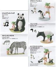 KAIYODO Yotsubato! Koiwai Yotsuba & Monochrome Animal Part 2 Figure Gashapon x5