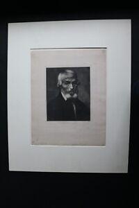 Rare Alphonse Legros 1875 Mezzotint Portrait Thomas Carlyle Lemercier Publisher