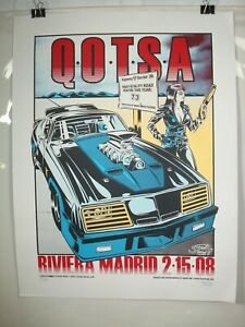 Queens Of The Stone Age Madrid Concert Poster Stainboy 2008 Signed and Numbered