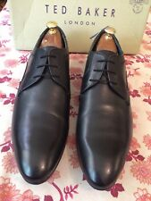 Ted Baker Leam Black Leather Mens Derby Shoe Uk 14, Eu 48