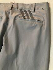 New Listingadidas Golf 32 x 32 Gray 3 Stripe Vented Cuff Dress Pants