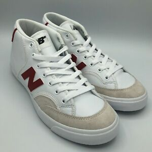 New Balance Numeric 213 Mid Skateboard Skate Shoes White/Red/Beige NM213RAD Size