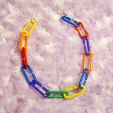 Plastic Colorful Chain Choker Necklace - Choker Jewelry Handmade Jewelry