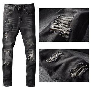 Las Mejores Ofertas En Jeans Negros Sin Marca Para Hombres Ebay