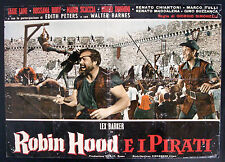 CINEMA-fotobusta ROBIN HOOD E I PIRATI barker, lane, rory, scaccia, SIMONELLI