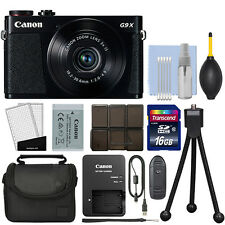 Canon PowerShot G9X 20.2MP Digital Camera 3x Optical Zoom Black + 16GB Kit